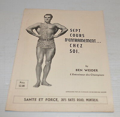 -BEN WEIDER French Training Book / Booklet 1960s -