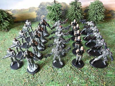 28mm Scifi 25 Commanders Miniatures PAINTED Risk 2210AD Boardgame LOW PRICE!
