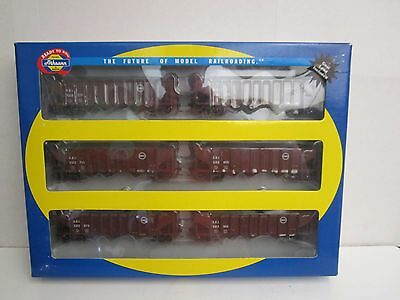 Athearn HO RTR #95642 (6-Pack) C&EI 40' 3-Bay Ribbed Hoppers