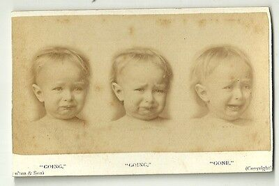 A victorian cdv  photo Comic Humour Children Baby crying  unstated  photographer