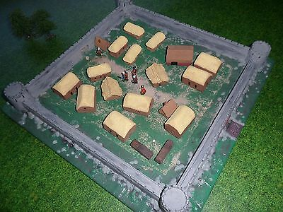 6mm 10mm city town walls castle fortification painted scenery terrain