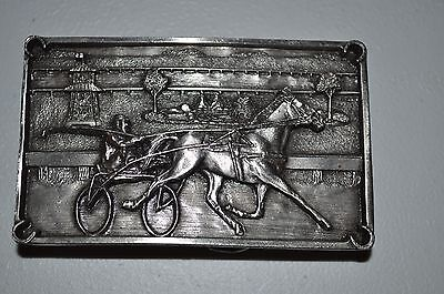 Bergamot Brass Works  Harness Horse Racing Belt Buckle!!  FREE SHIPPING!!