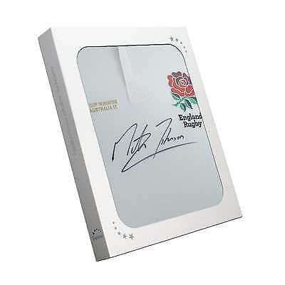 Martin Johnson Rugby Shirt Signed England Collectables Memorabilia Gift
