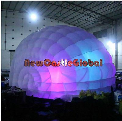 custom made inflatable portable pop up half a dome colorful LED light  tent
