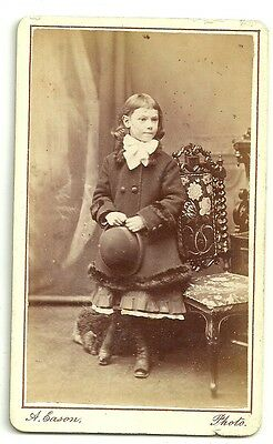 Victorian cdv photo  smart young girl Dalston Lane London  Photographer