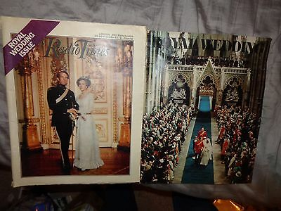 Sunday Telegraph & Radio Times  Wedding Princess Anne Captain Mark Phillips 1973