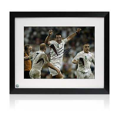 Framed Martin Johnson Signed England Rugby Photo: The Final Whistle Sport
