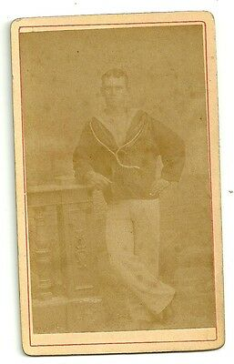 Victorian cdv photo military Navy Sailor uniform Rating  unstated  photographer