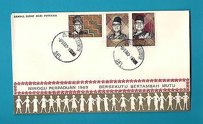 Malaysia First Day Cover - 1969 (incl.leaflet describing the stamps)