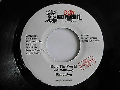 """BLING DOG - Rule The World, 7"""" Vinyl Single. Don Corlieon Records."""