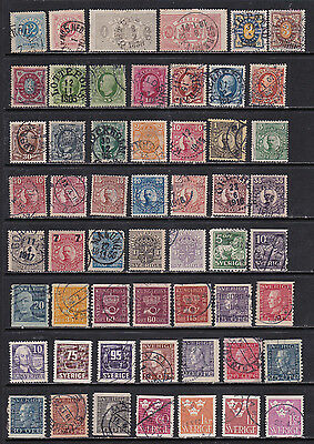 Sweden - Superior Early Stamps  (Sw12021)