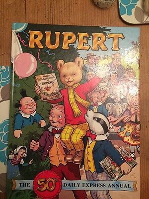 Rupert The Bear 50th Daily Express Annual