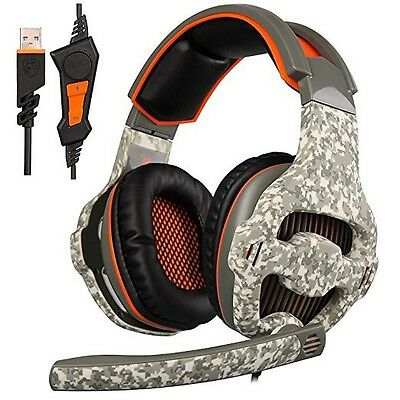SADES SA918 (2016 New released Version PC Gaming Headset) USB headsets