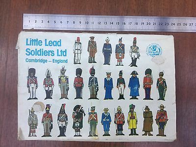 Little Lead Solider Ltd like Britains Timpo, miniature Scots Guards bands men