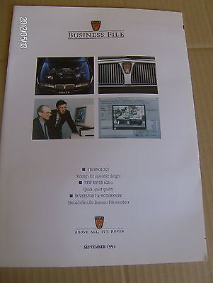ROVER BUSINESS FILE  ADVERTISING LITERATURE SEPT 1994  #Rov05