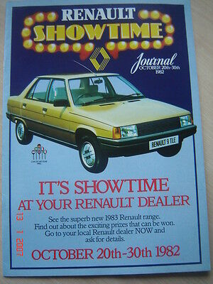 RENAULT RANGE   SHOWTIME   SALES BROCHURE  OCT. 1982  #Ren07
