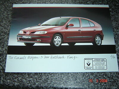 RENAULT MEGANE 5 DOOR HATCH SALES BROCHURE 1996  #RenMe03