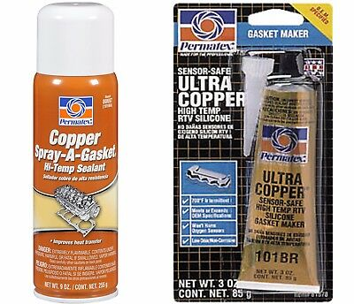 Permatex® Copper Spray-A-Gasket Kupfer-spray + Silikon Dichtung Ultra Copper Set