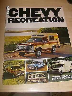 CHEVROLET RECREATION  SALES BROCHURE  1977  #CheRec01