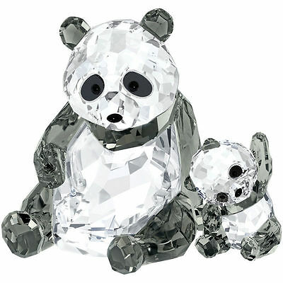 Swarovski Crystal Panda Mother With Baby 5063690 New In Box w/COA Free Shipping