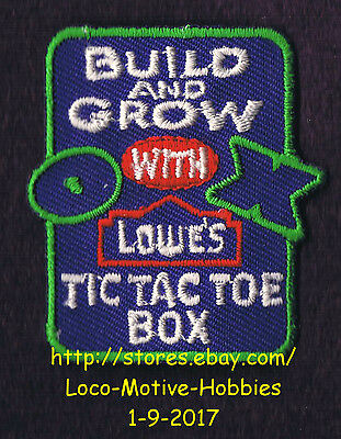 LMH PATCH Badge  TIC TAC TOE Game Box Board LOWES Build Grow Workshop Clinic OX