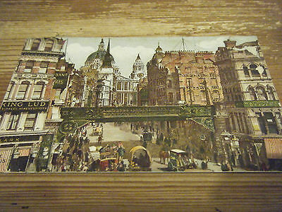 Early Hildesheimer Card -   Ludgate  Circus  -  London  -  Franked  Fulham  Vgc