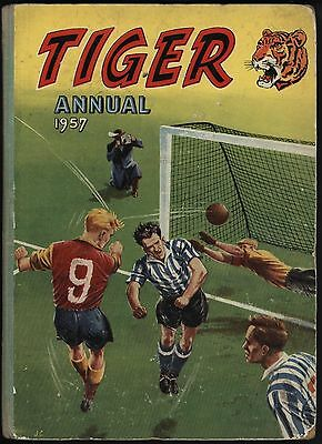 20% Off! Tiger Annual 1957 The First One. Nice Shape With Fantastic White Pages!