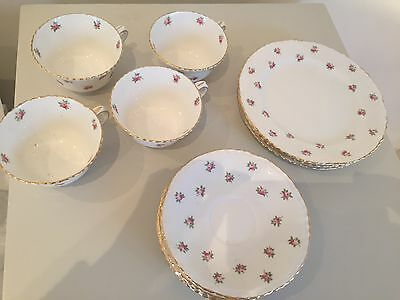 Crown Staffordshire Alfred Pearce Rose Tea Set