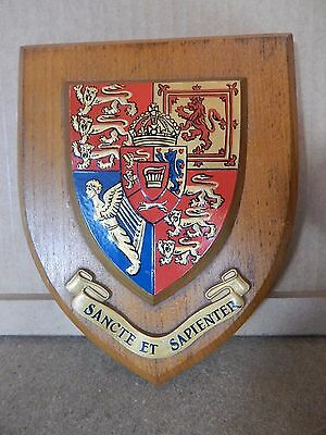 Vintage Kings college London Univerisity plaque  Made in Britain