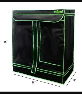 "MILLIARD 30"" x 18"" x 36"" 100% Reflective Mylar Hydroponic Indoor Grow Tent"