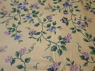 New Longaberger Yellow Vine Fabric Sold Bty 5 Yards Available