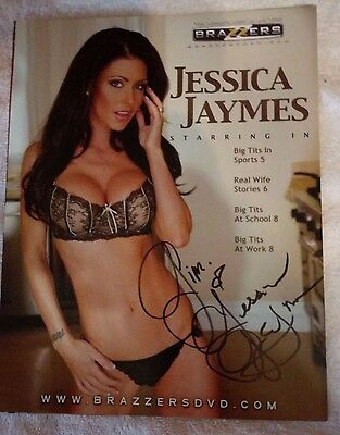 Actress Jessica Jaymes 8x10 Promotional flyer Autographed ~Brazzers DVD~