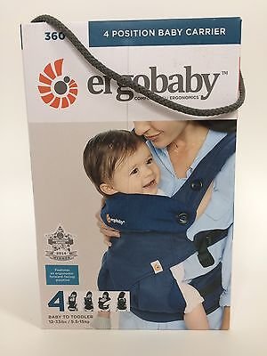 NEW AUTHENTIC ergobaby Four Position 360 Baby Carrier Midnight Blue