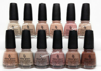 China Glaze Nail Lacquer - SHADES OF NUDE Collection - Choose Any Color