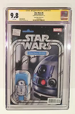 Star Wars #6 Cgc Ss 9.8 • Signed Kenny Baker • R2-D2 Action Figure Variant
