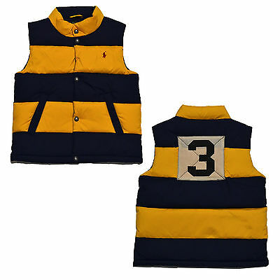 Polo Ralph Lauren Toddler Down Puffer Vest Boys Snap Buttons Pony Logo New Nwt