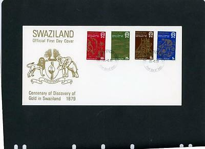 Swaziland First Day Cover Gold Discovery Scott 321-4