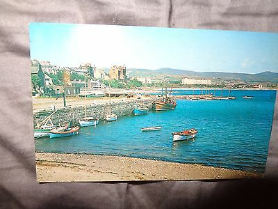 Postcard The Harbour Port St Mary Isle Of Man 1962 PMK 1-S