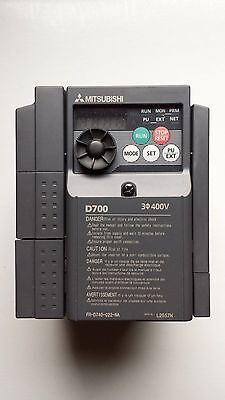 Mitsubishi D700 Inverter 3-HP VFD Variable Frequency AC Drive FR-D740-022-NA