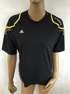 ADIDAS CLIMACOOL Boy's Short Sleeve Black Athletic T Shirt Size M