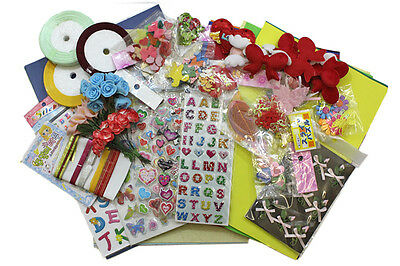 JOB LOT Cardmaking Scrapbooking Project KIT Wedding Birthday Newbaby morethan300