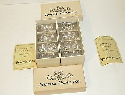 8 Princess House Lead Crystal Salt Dips New In Box