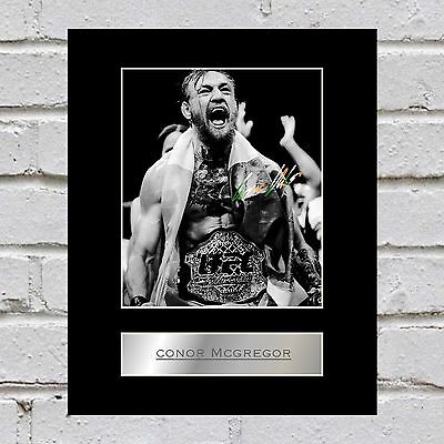 Conor McGregor Signed Mounted Photo Display