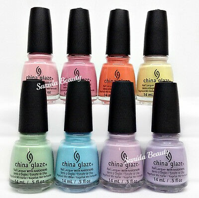 China Glaze Nail Lacquer - PASTELS 2017 Collection - Choose Any Color