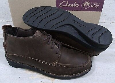Clarks Womens Nikki Class Brown Leather Casual Ankle Boots Shoes 63004 size 7 W