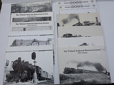 Lot of 11 Different Wabash R.R. Calendars, Historical Society