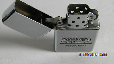 Works Great Vintage Windproof Lighter Broadview Steel