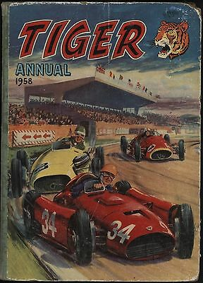 Tiger Annual 1958 With White Pages, Crossword Not Done, Price Tag Intact