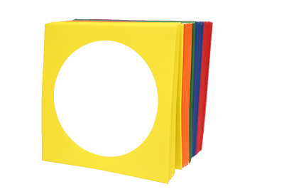 1,000  ASSORTED COLOR CD DVD Paper Sleeve Envelope W/Window Flap 100g