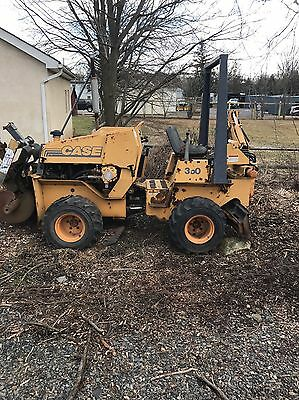 Case 360 Riding Trencher 4 Way Plow Backhoe Hydraulic Backfill Blade 4X4 Diesel